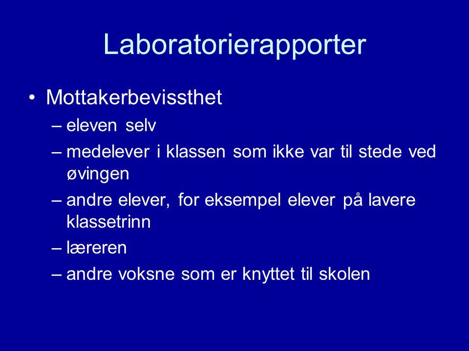 Laboratorierapporter