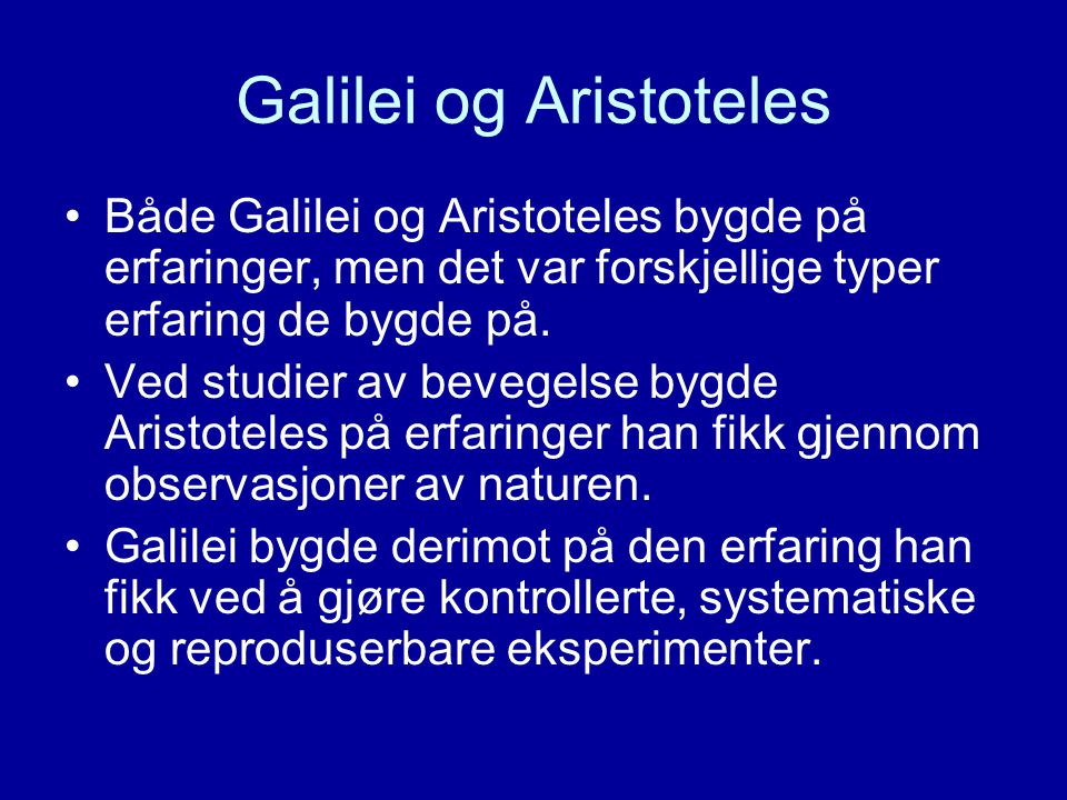 Galilei og Aristoteles