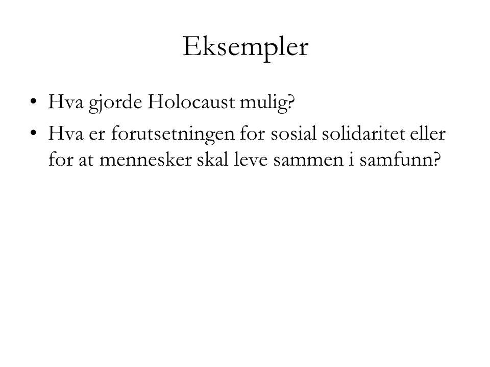 Eksempler Hva gjorde Holocaust mulig