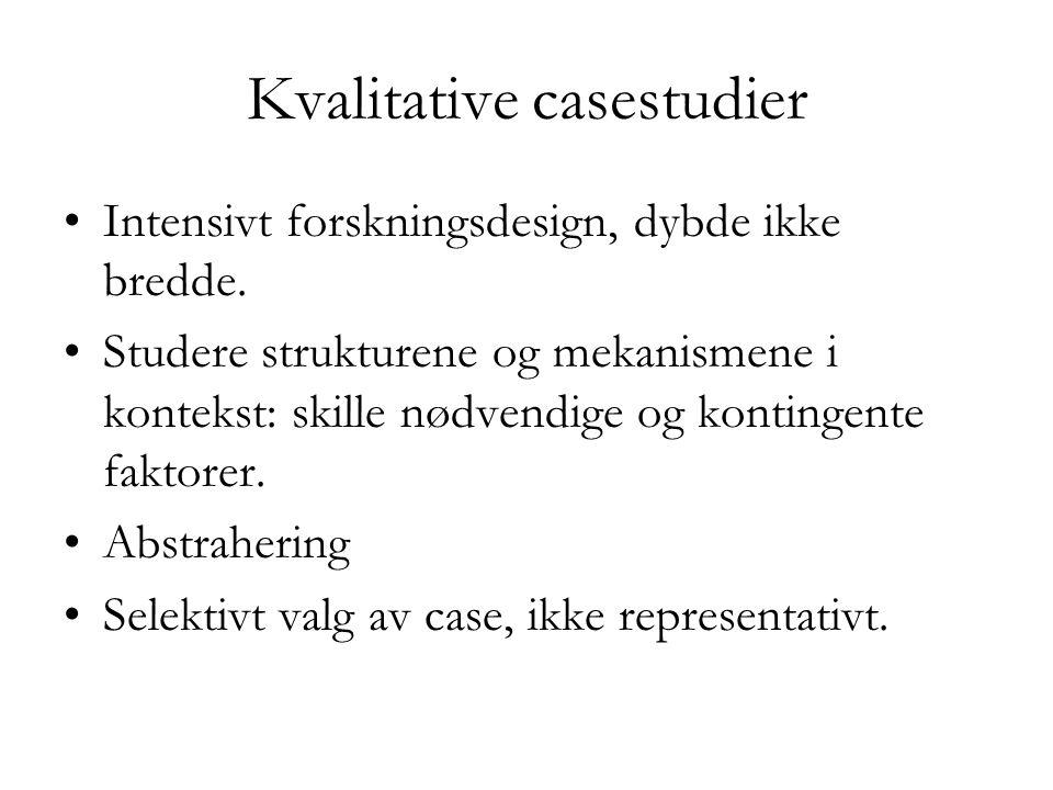 Kvalitative casestudier