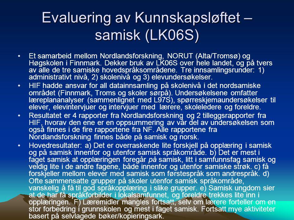 Evaluering av Kunnskapsløftet – samisk (LK06S)
