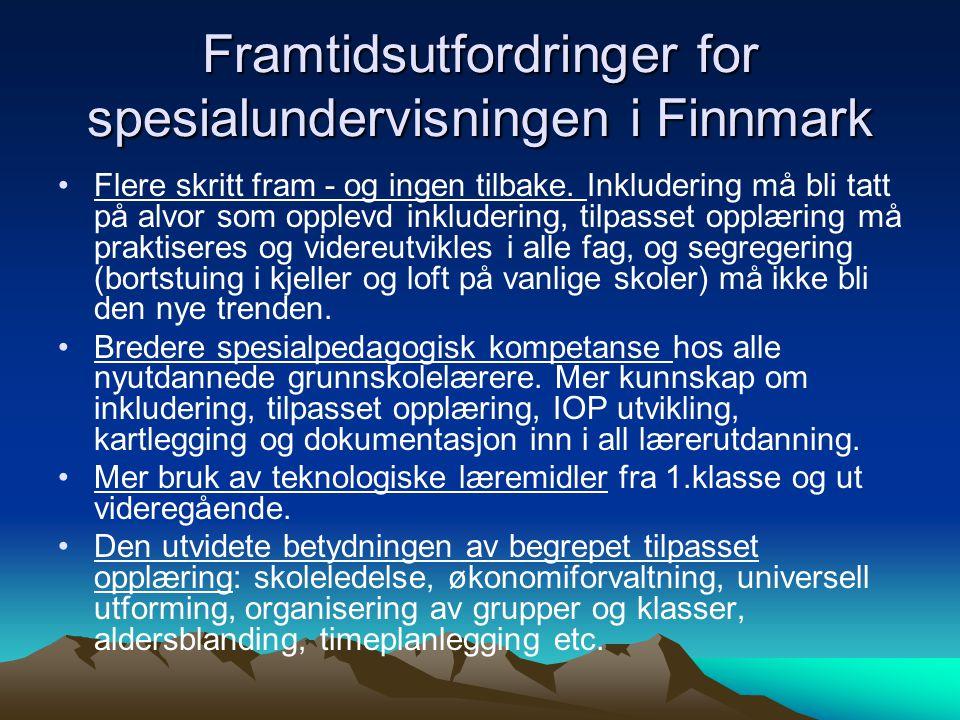 Framtidsutfordringer for spesialundervisningen i Finnmark