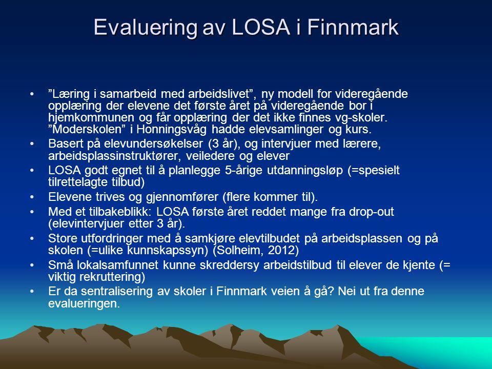 Evaluering av LOSA i Finnmark