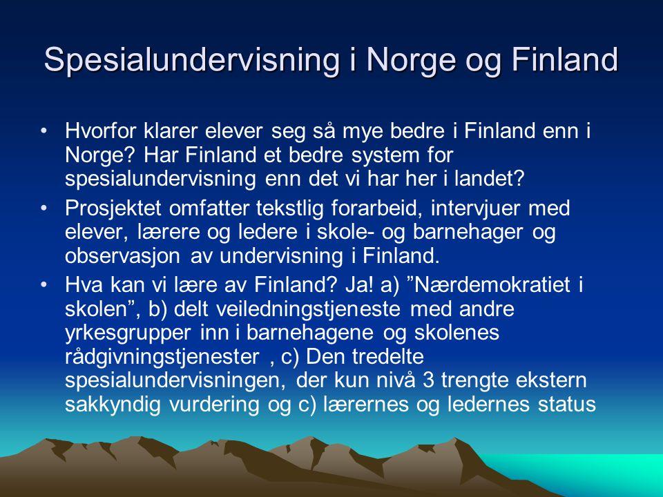Spesialundervisning i Norge og Finland