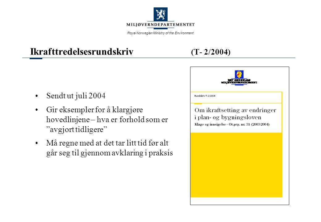 Ikrafttredelsesrundskriv (T- 2/2004)