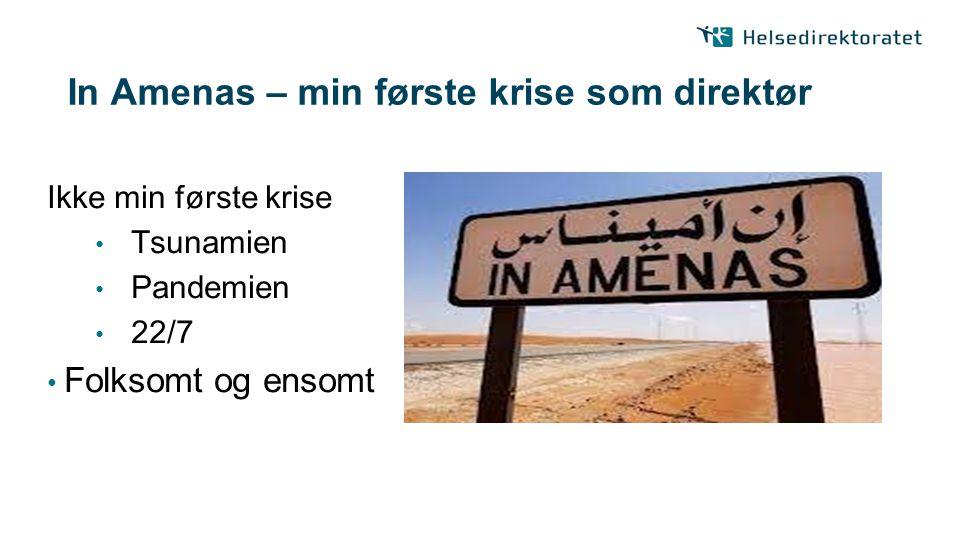 In Amenas – min første krise som direktør
