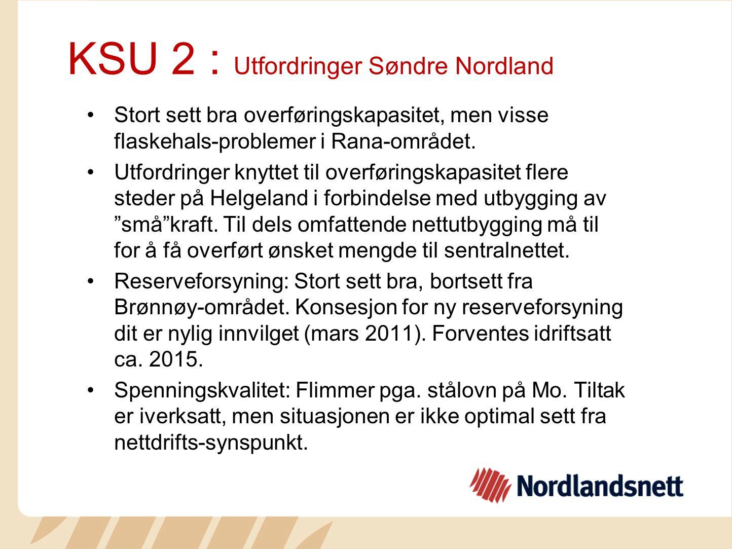 KSU 2 : Utfordringer Søndre Nordland