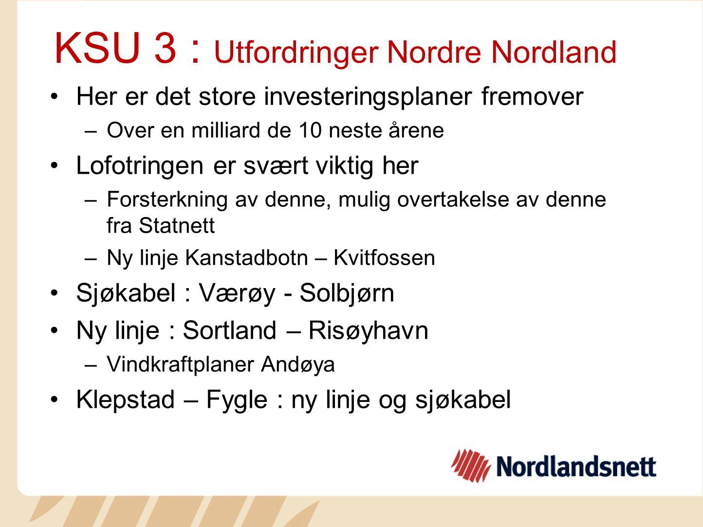 KSU 3 : Utfordringer Nordre Nordland