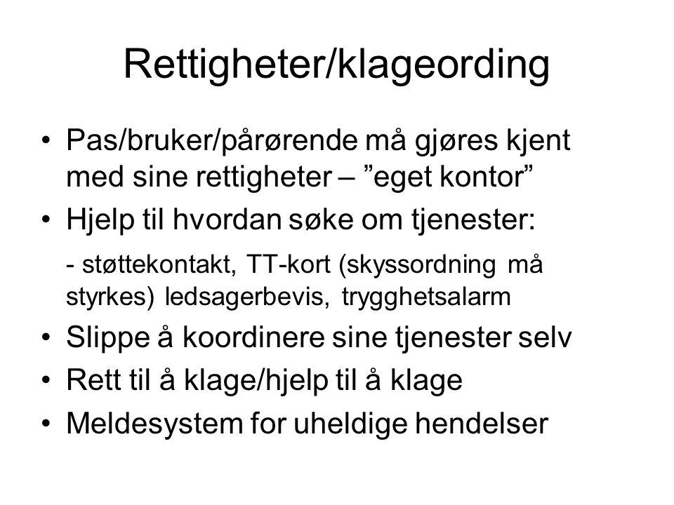 Rettigheter/klageording