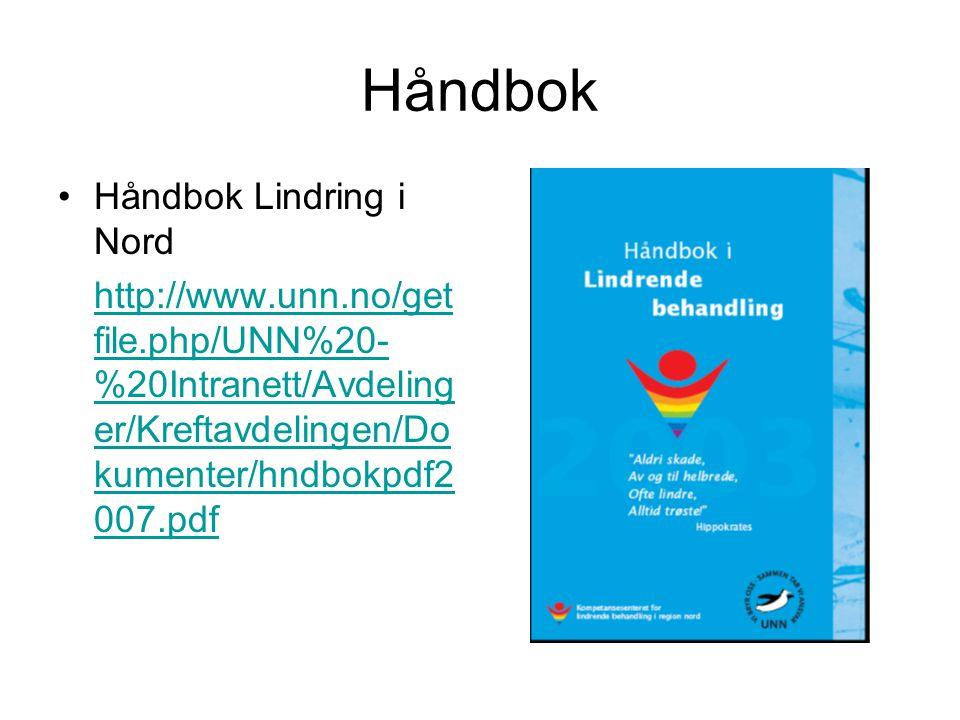 Håndbok Håndbok Lindring i Nord