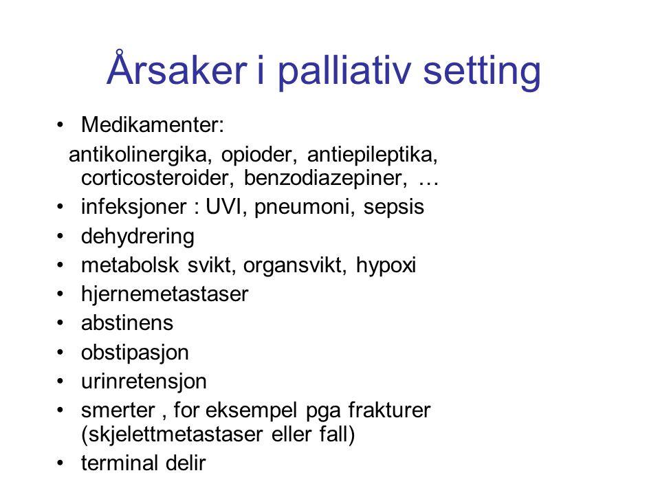 Årsaker i palliativ setting