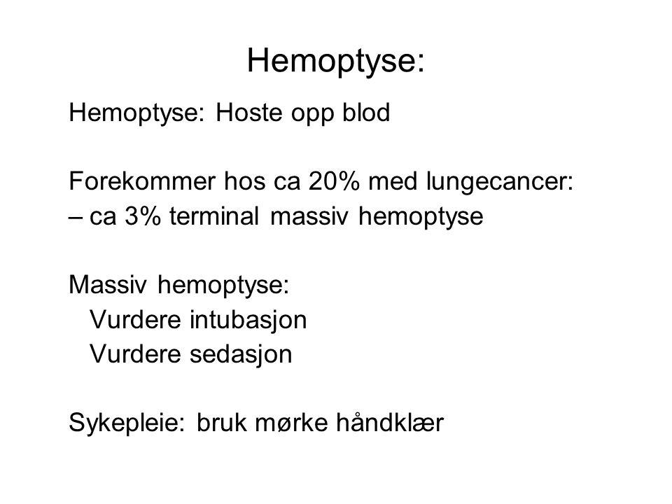Hemoptyse: Hemoptyse: Hoste opp blod