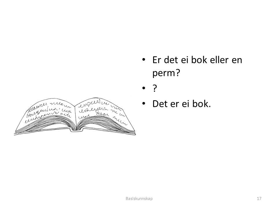 Er det ei bok eller en perm Det er ei bok.