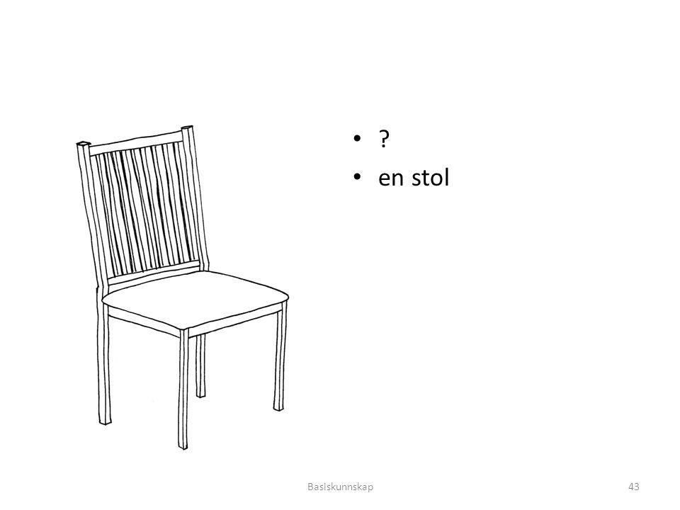 en stol Basiskunnskap