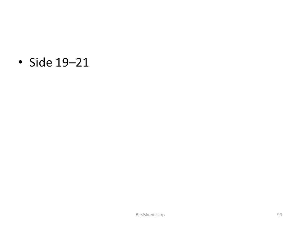 Side 19–21 Basiskunnskap