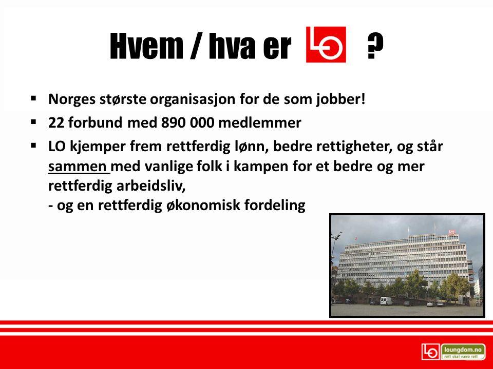 Hvem / hva er Norges største organisasjon for de som jobber!