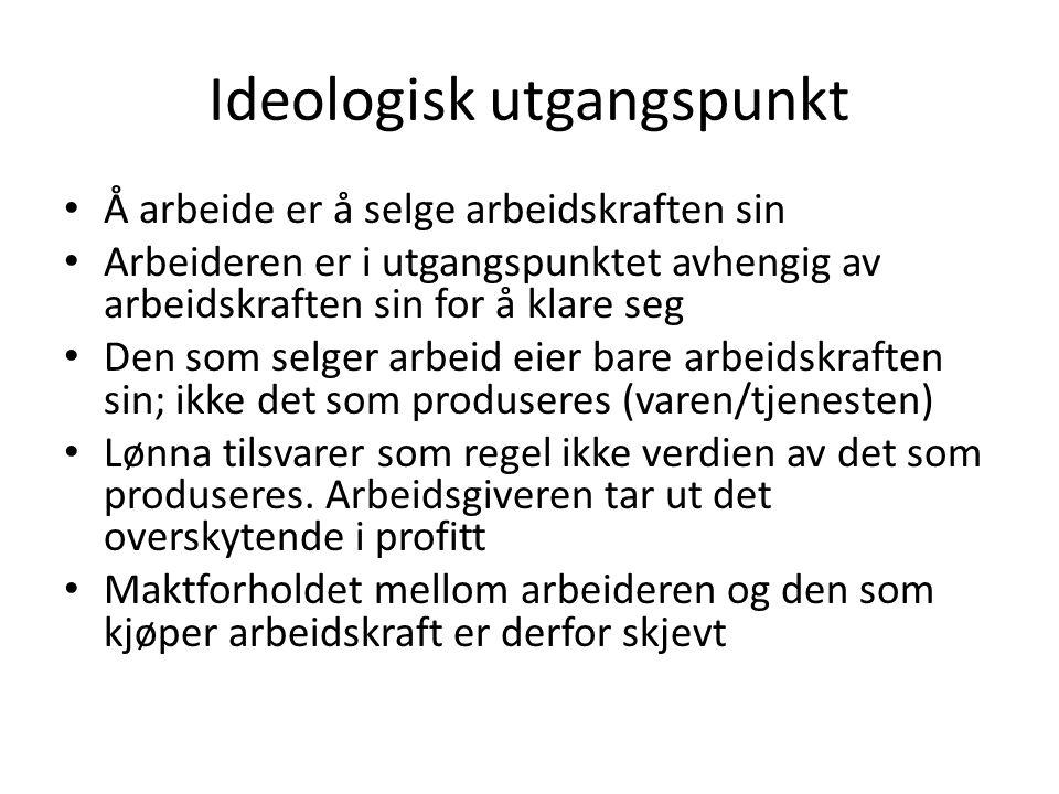 Ideologisk utgangspunkt