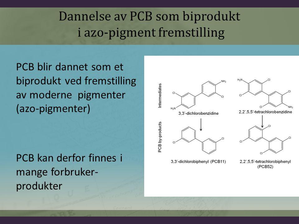 Dannelse av PCB som biprodukt i azo-pigment fremstilling