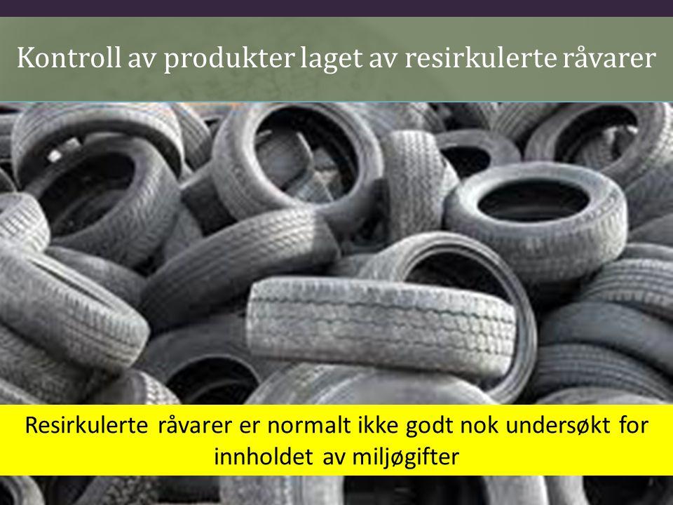 Kontroll av produkter laget av resirkulerte råvarer