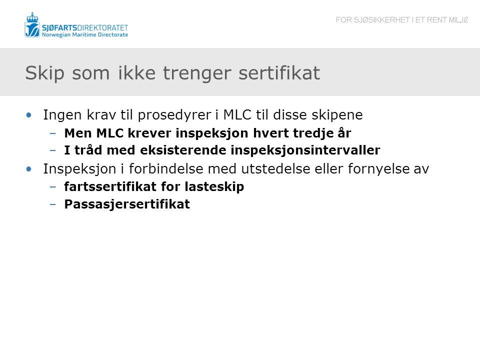 Skip som ikke trenger sertifikat