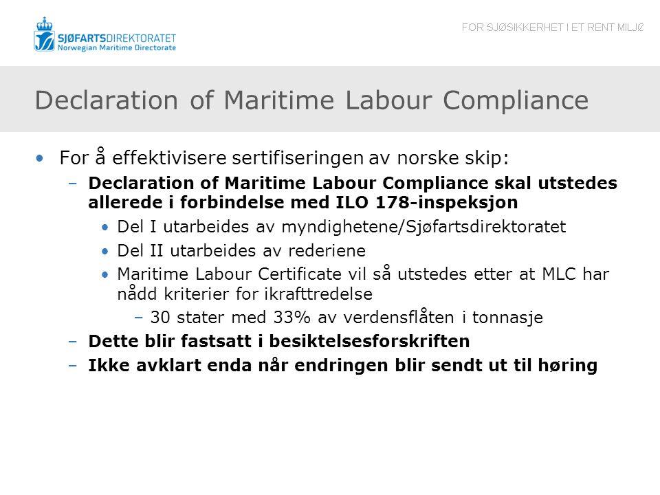 Declaration of Maritime Labour Compliance