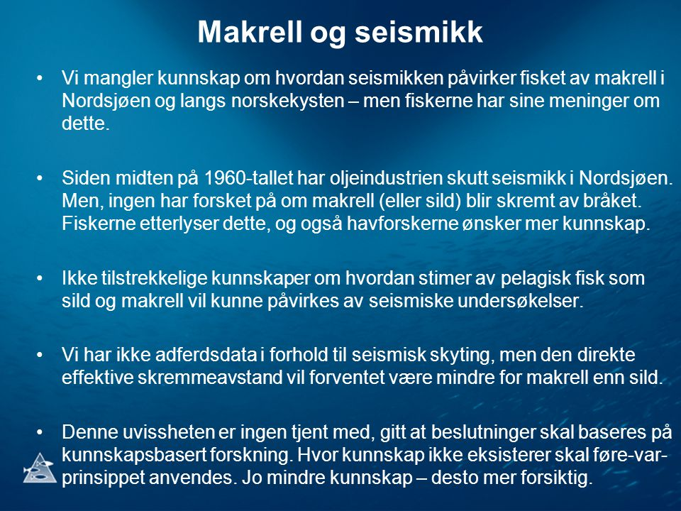 Makrell og seismikk
