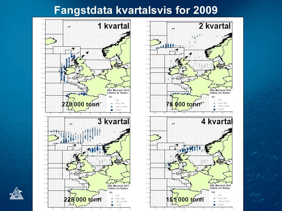 Fangstdata kvartalsvis for 2009