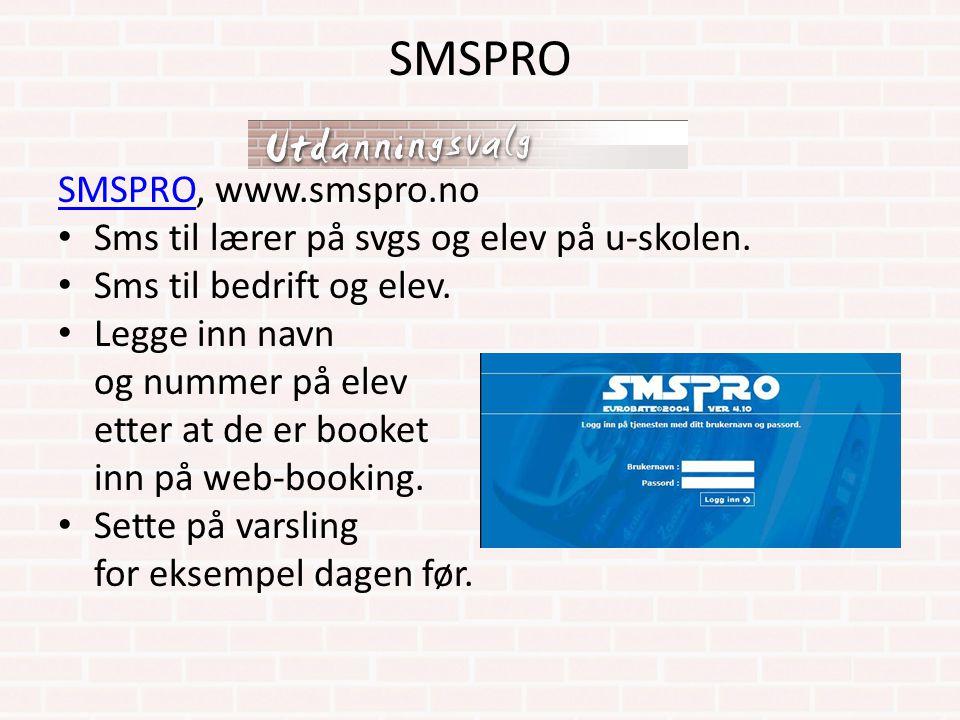 SMSPRO SMSPRO, www.smspro.no