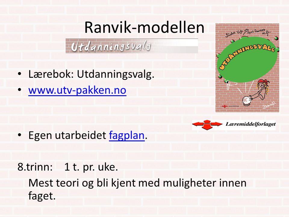 Ranvik-modellen Lærebok: Utdanningsvalg. www.utv-pakken.no