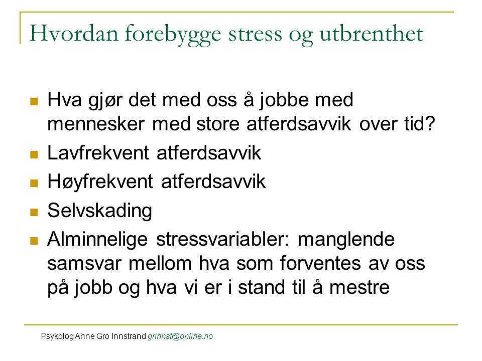 Hvordan forebygge stress og utbrenthet