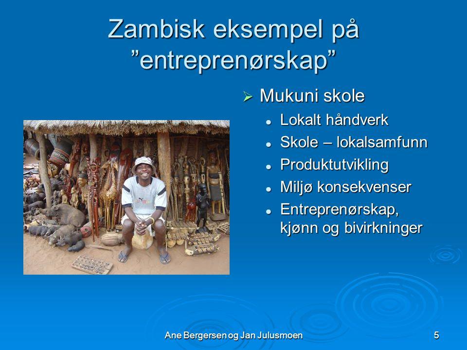 Zambisk eksempel på entreprenørskap