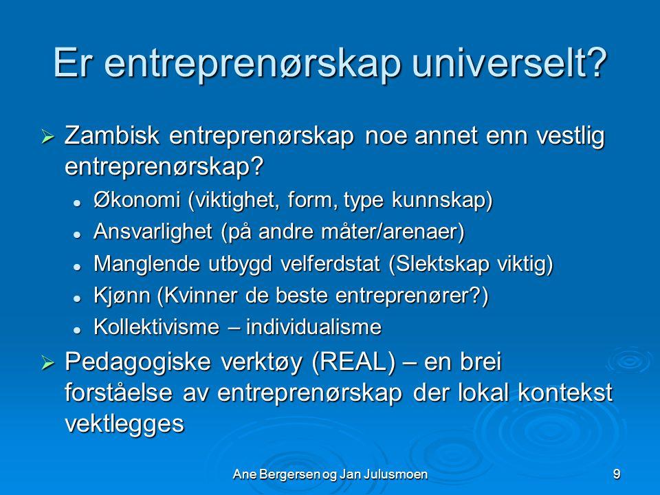 Er entreprenørskap universelt