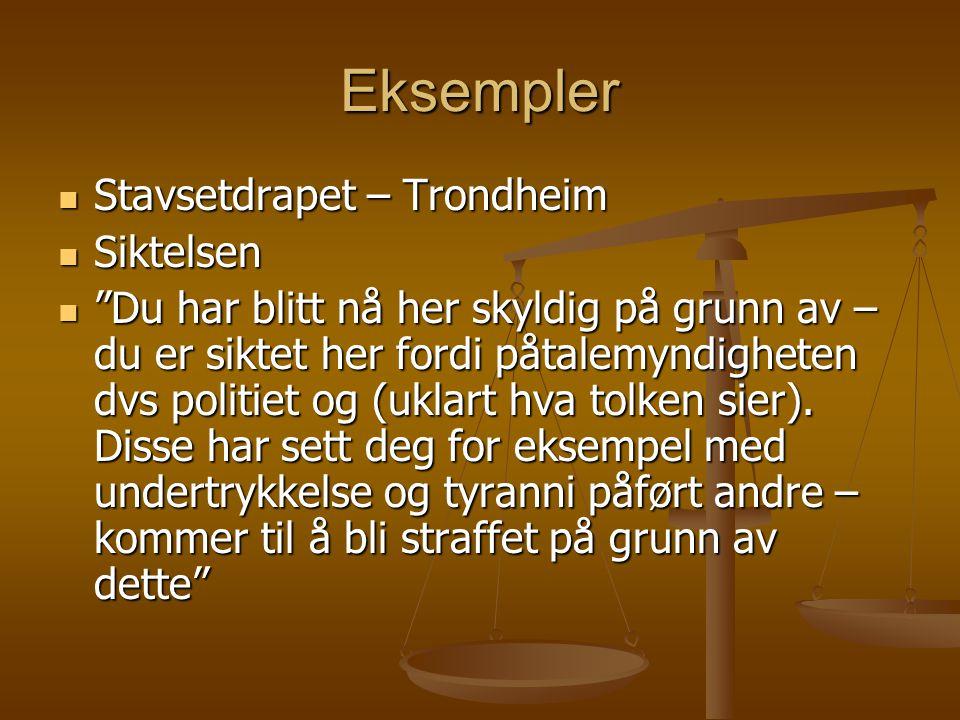 Eksempler Stavsetdrapet – Trondheim Siktelsen