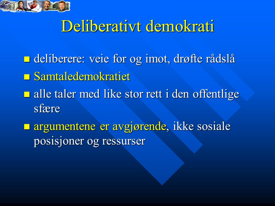 Deliberativt demokrati