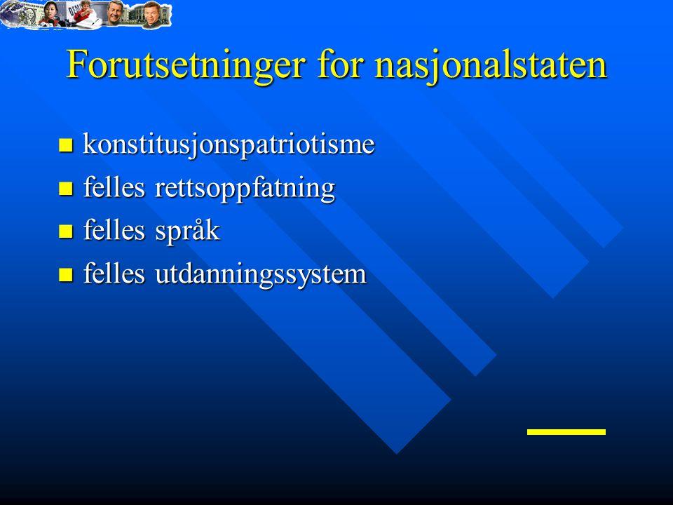 Forutsetninger for nasjonalstaten