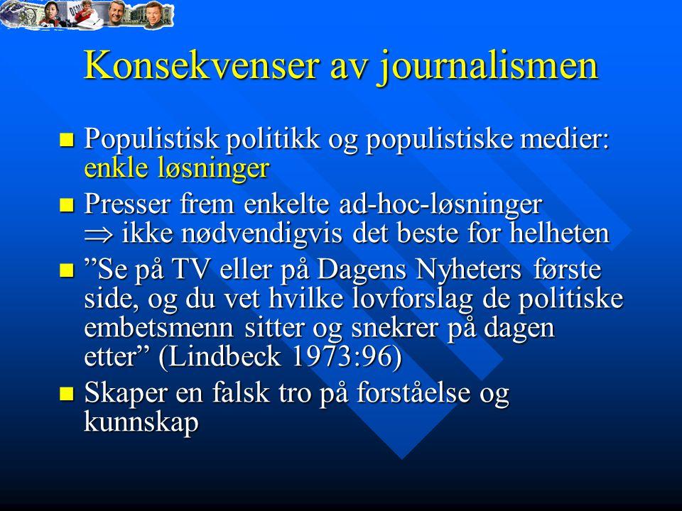 Konsekvenser av journalismen