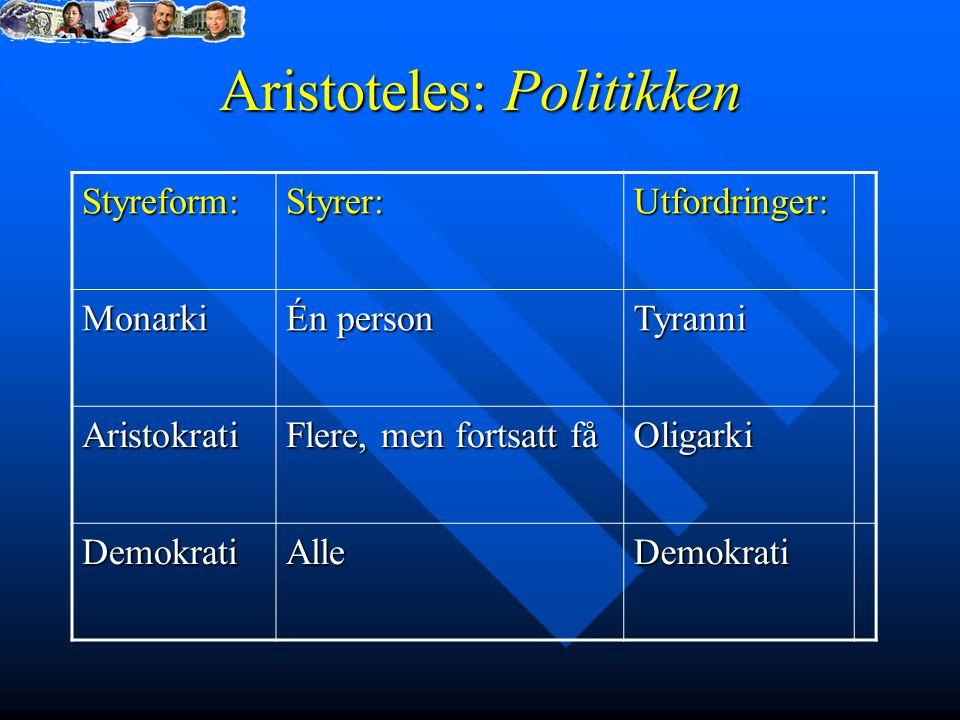 Aristoteles: Politikken
