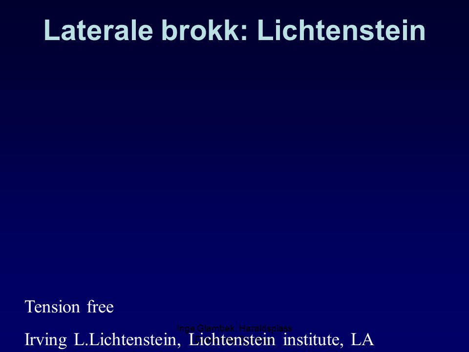 Laterale brokk: Lichtenstein