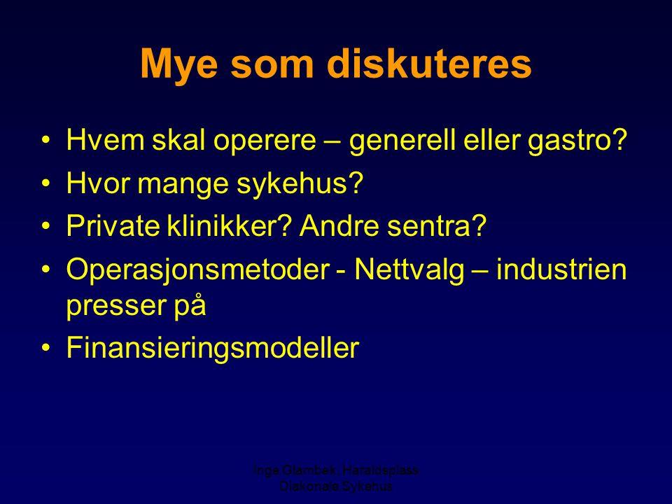 Inge Glambek, Haraldsplass Diakonale Sykehus