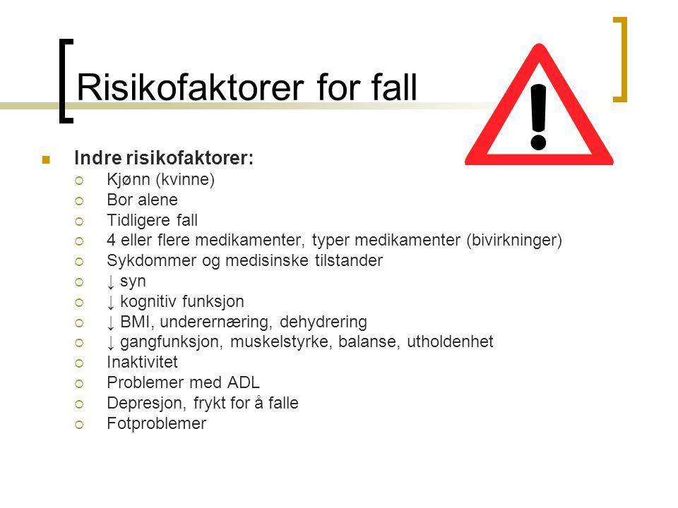 Risikofaktorer for fall