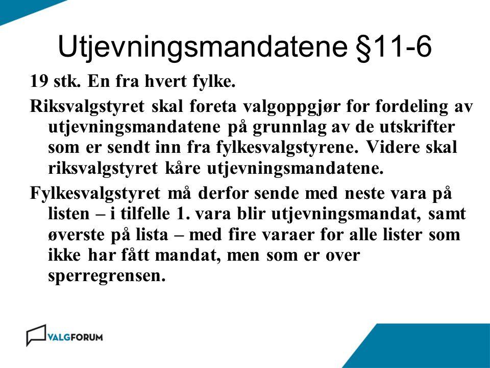 Utjevningsmandatene §11-6