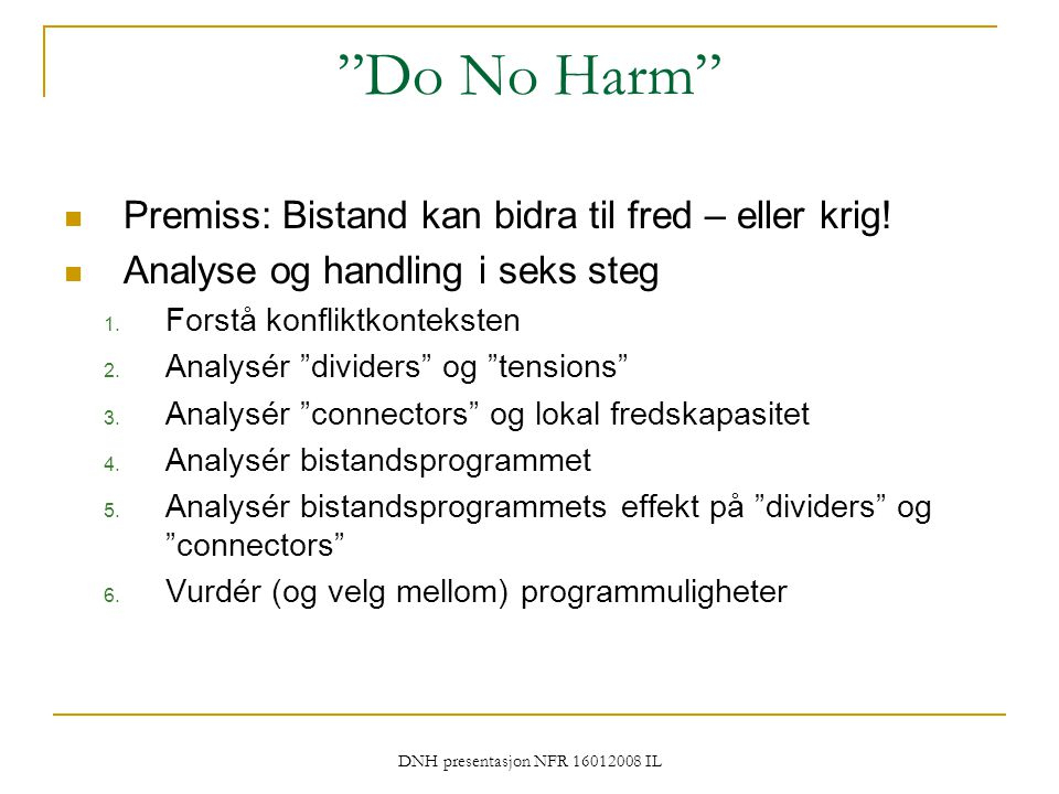 DNH presentasjon NFR 16012008 IL