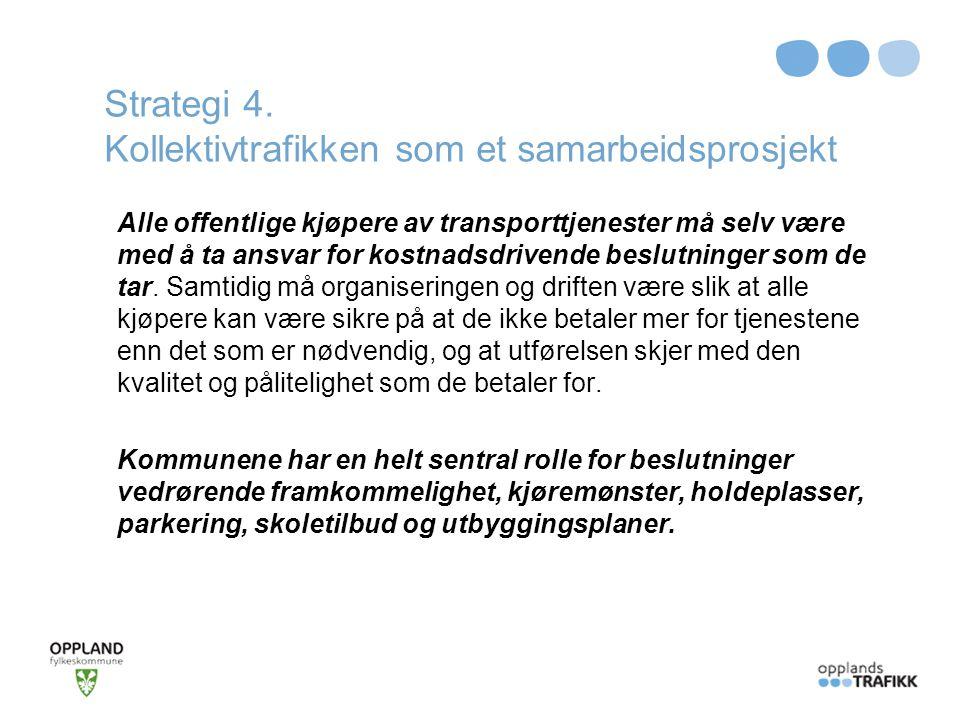 Strategi 4. Kollektivtrafikken som et samarbeidsprosjekt