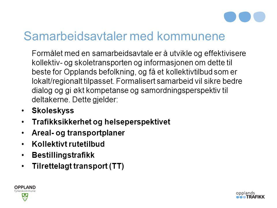 Samarbeidsavtaler med kommunene
