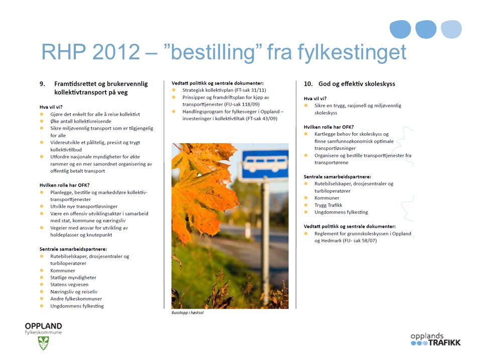 RHP 2012 – bestilling fra fylkestinget