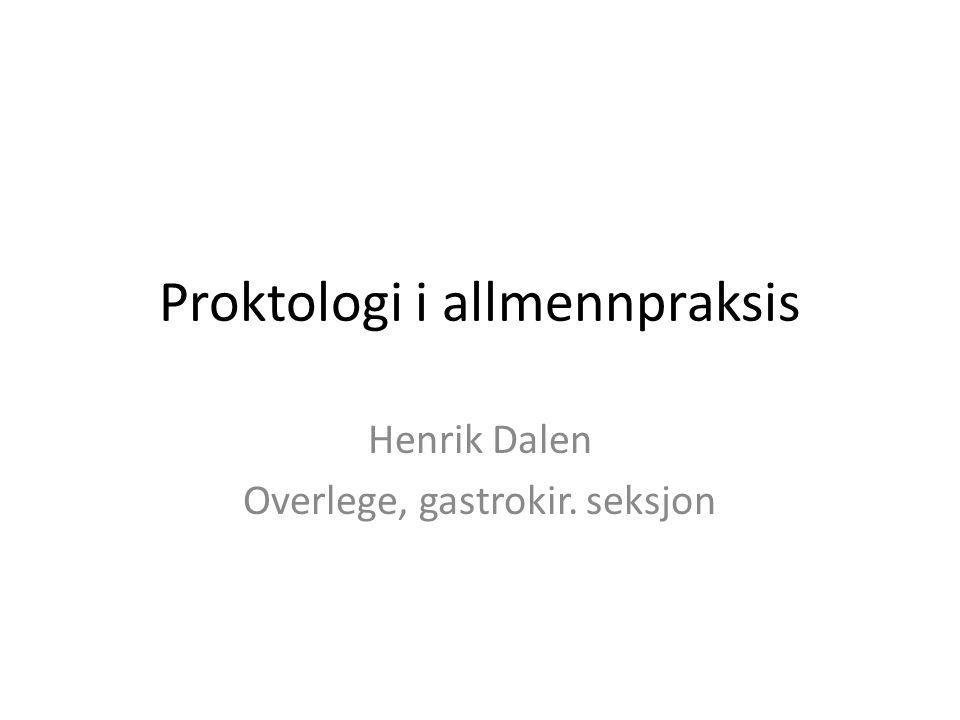Proktologi i allmennpraksis