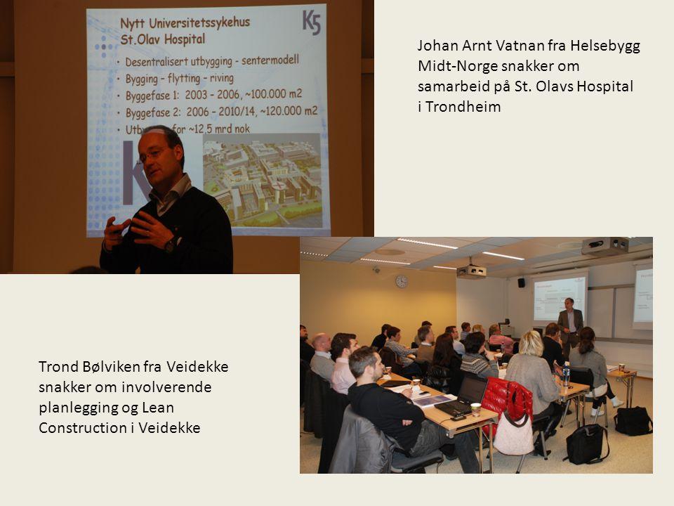 Johan Arnt Vatnan fra Helsebygg Midt-Norge snakker om samarbeid på St