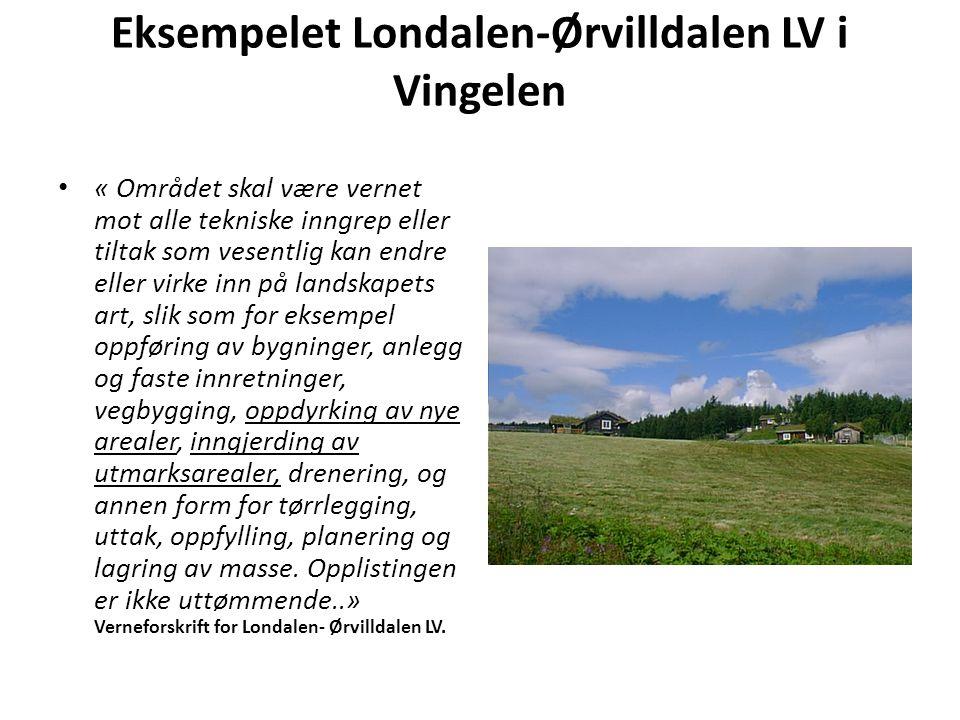Eksempelet Londalen-Ørvilldalen LV i Vingelen