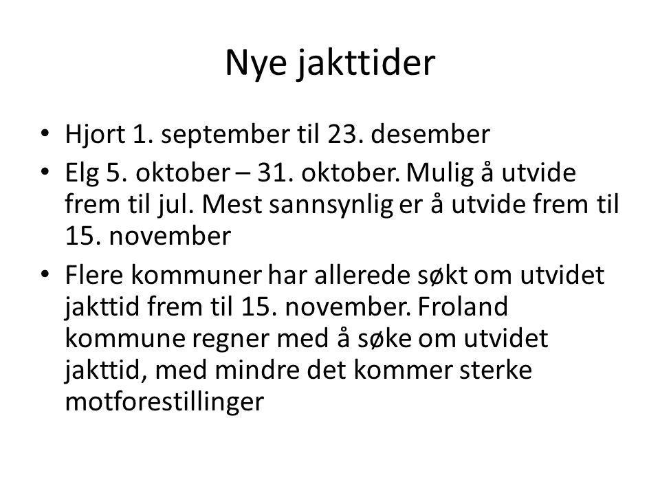 Nye jakttider Hjort 1. september til 23. desember