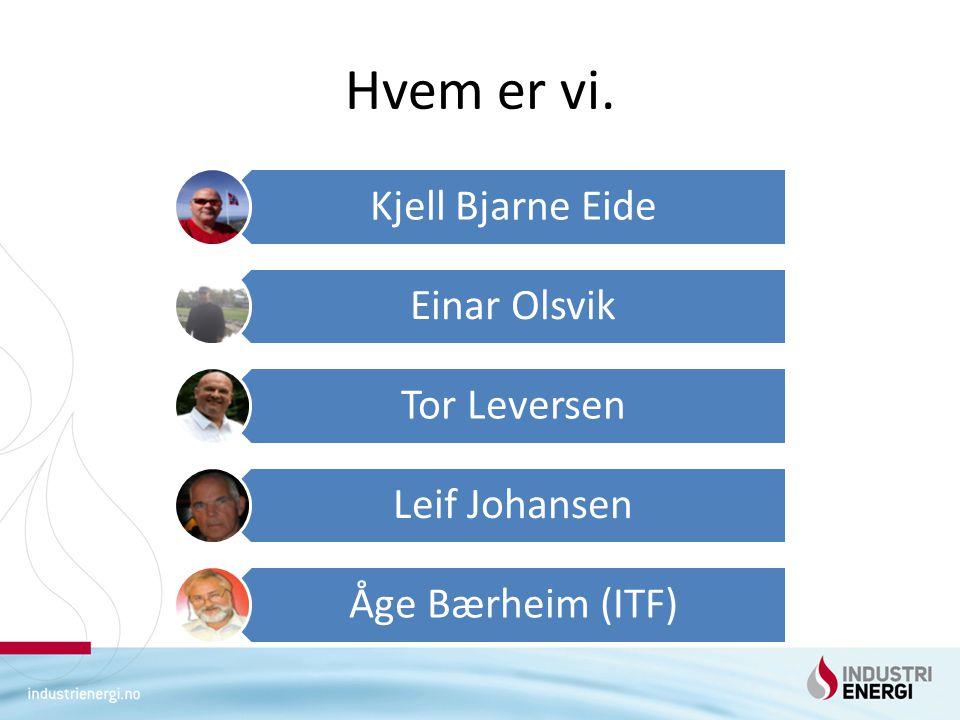 Hvem er vi. Kjell Bjarne Eide Einar Olsvik Tor Leversen Leif Johansen